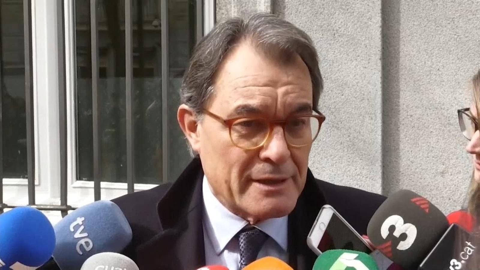 """Artur Mas: """" """"El referèndum va ser real. La declaració d'independència va tenir un valor simbòlic"""""""