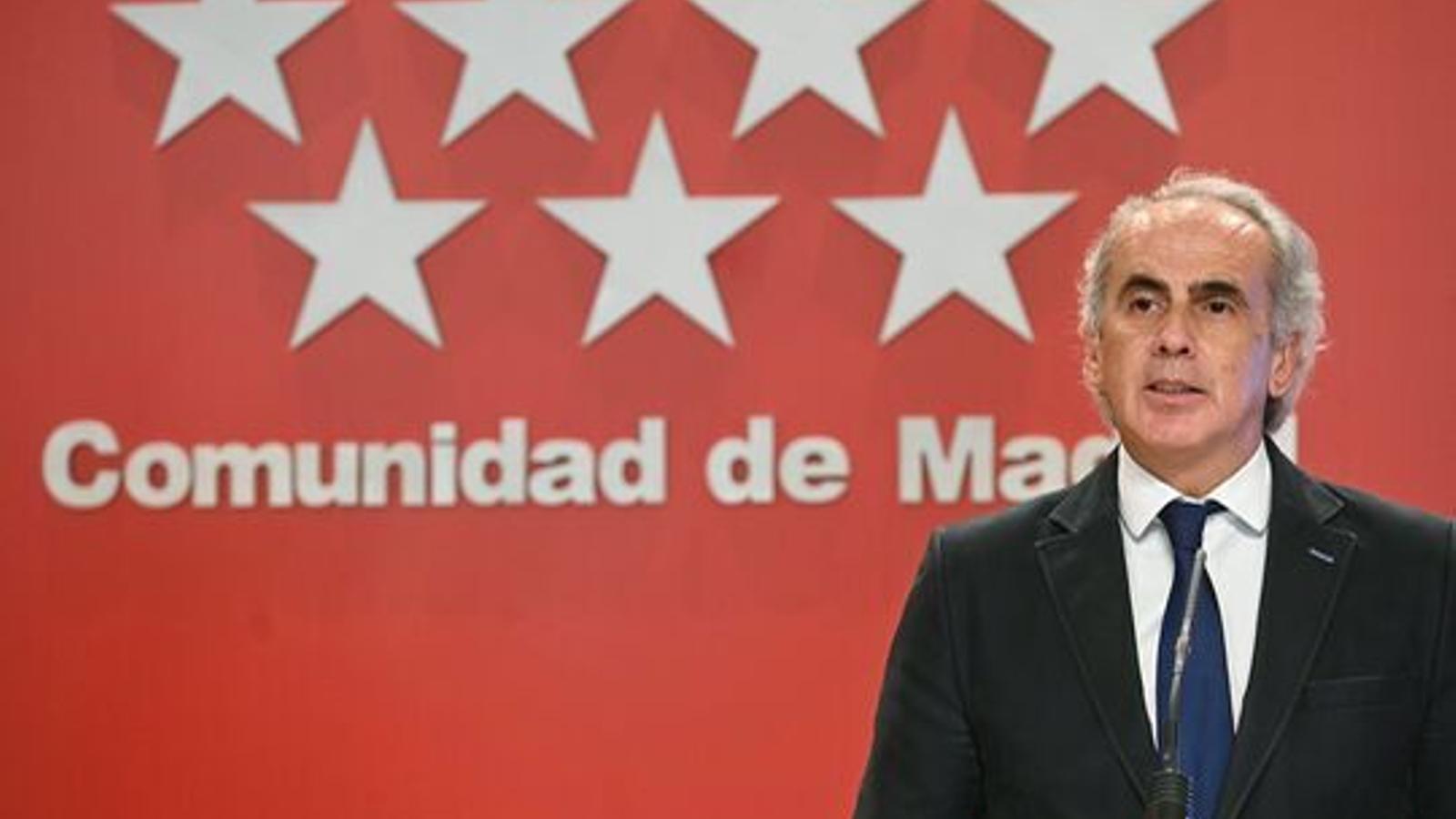 El conseller madrileny de Sanitat, Enrique Ruiz Escudero.