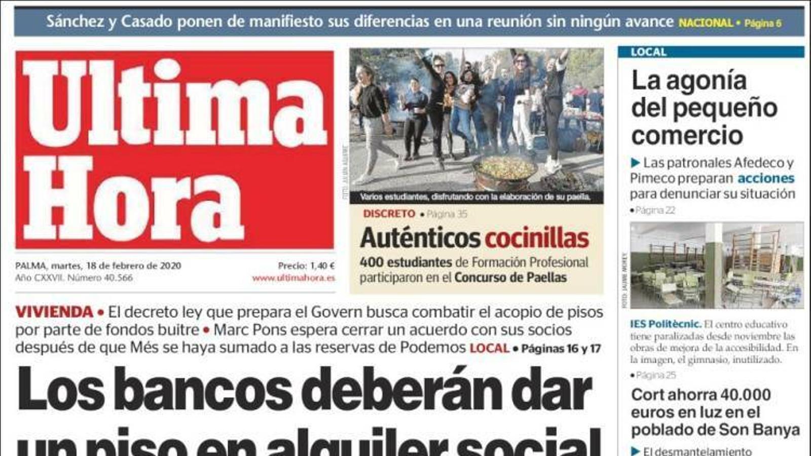 """""""El govern avala que Torra posi els presos al carrer"""", portada d''El Mundo'"""