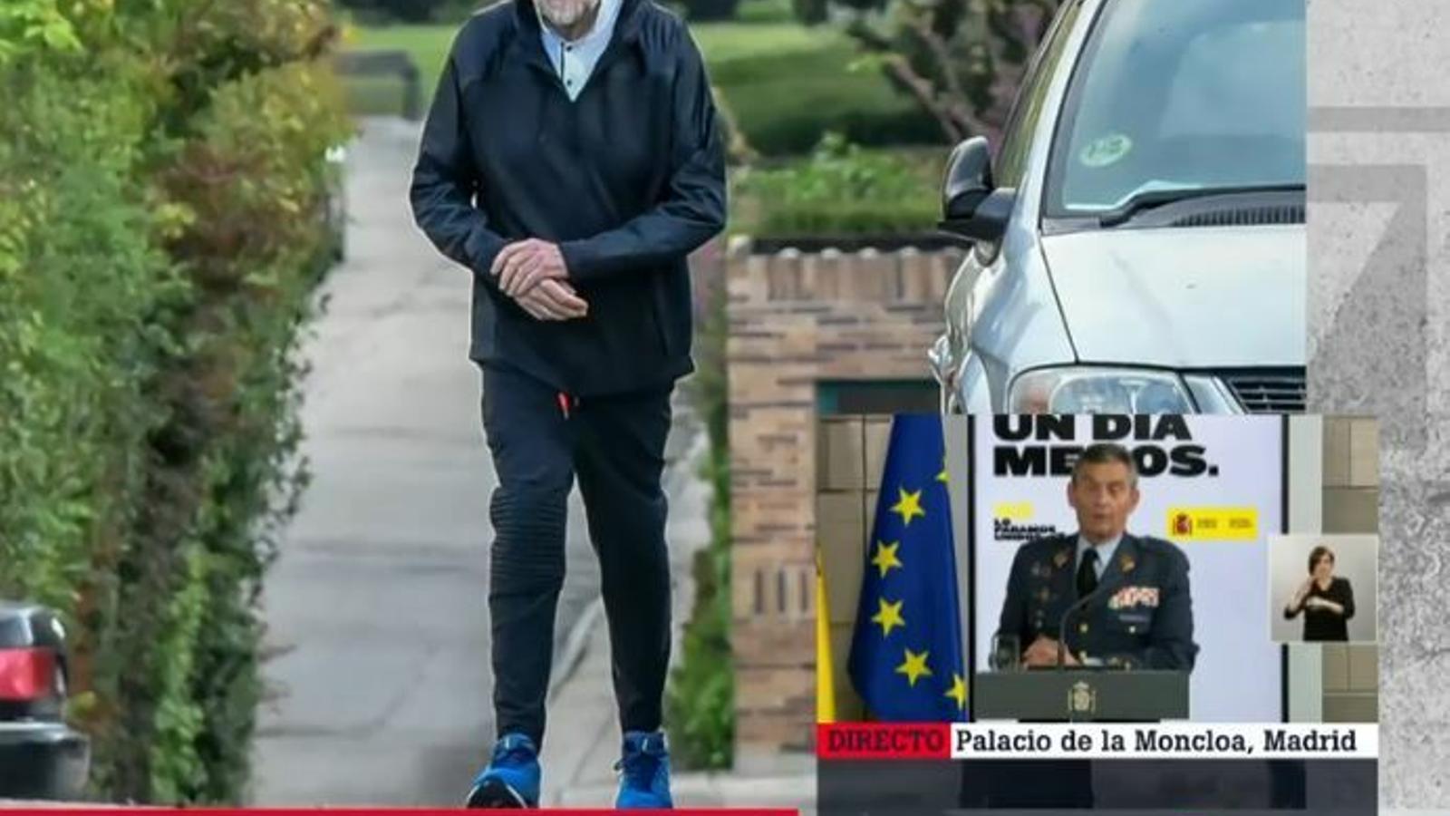 Les càmeres enxampen Mariano Rajoyfent esport i saltant-se el confinament