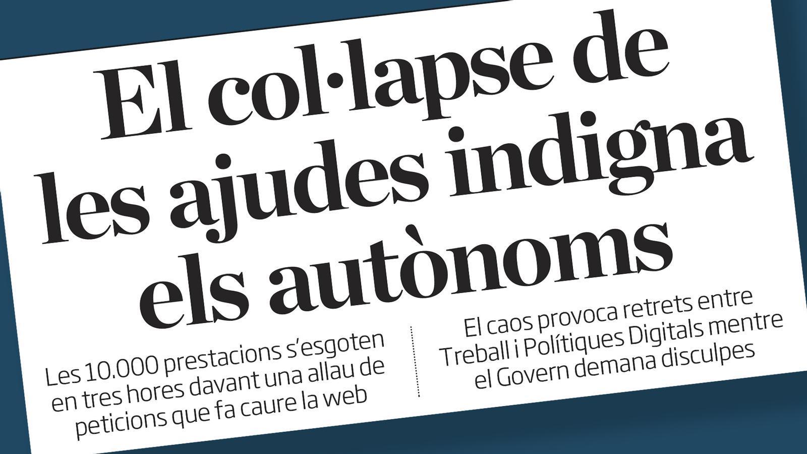 El Govern demana disculpes als autònoms; baixarà la velocitat dels cotxes per ciutat; també votarem en pavellons: les claus del dia, amb Antoni Bassas (11/11/2020)