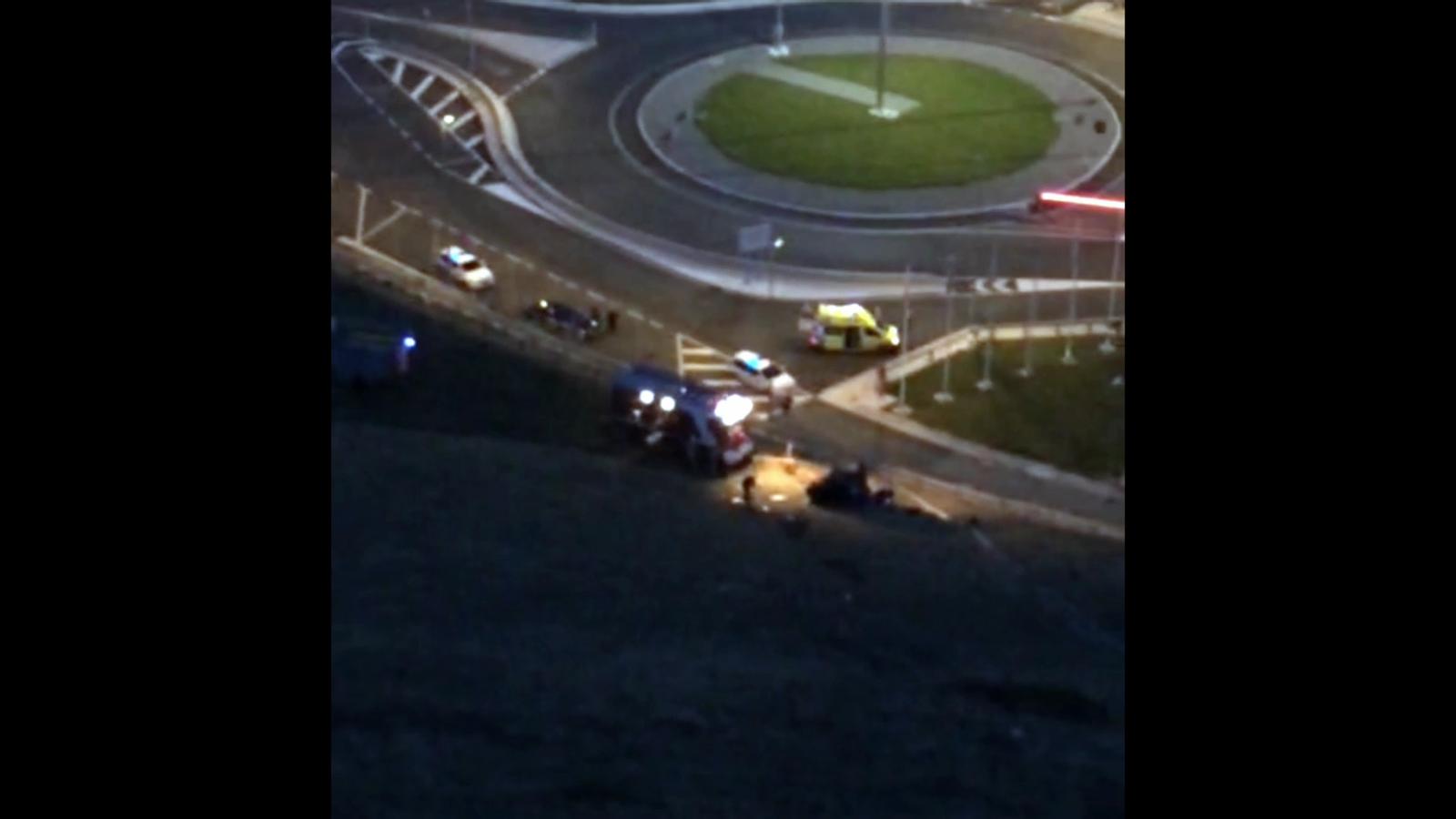 Arribada de l'helicòpter al lloc de l'accident del Port d'Envalira