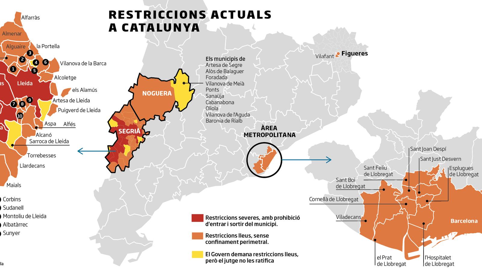 El Govern amplia les restriccions per frenar rebrots i hi afegeix municipis
