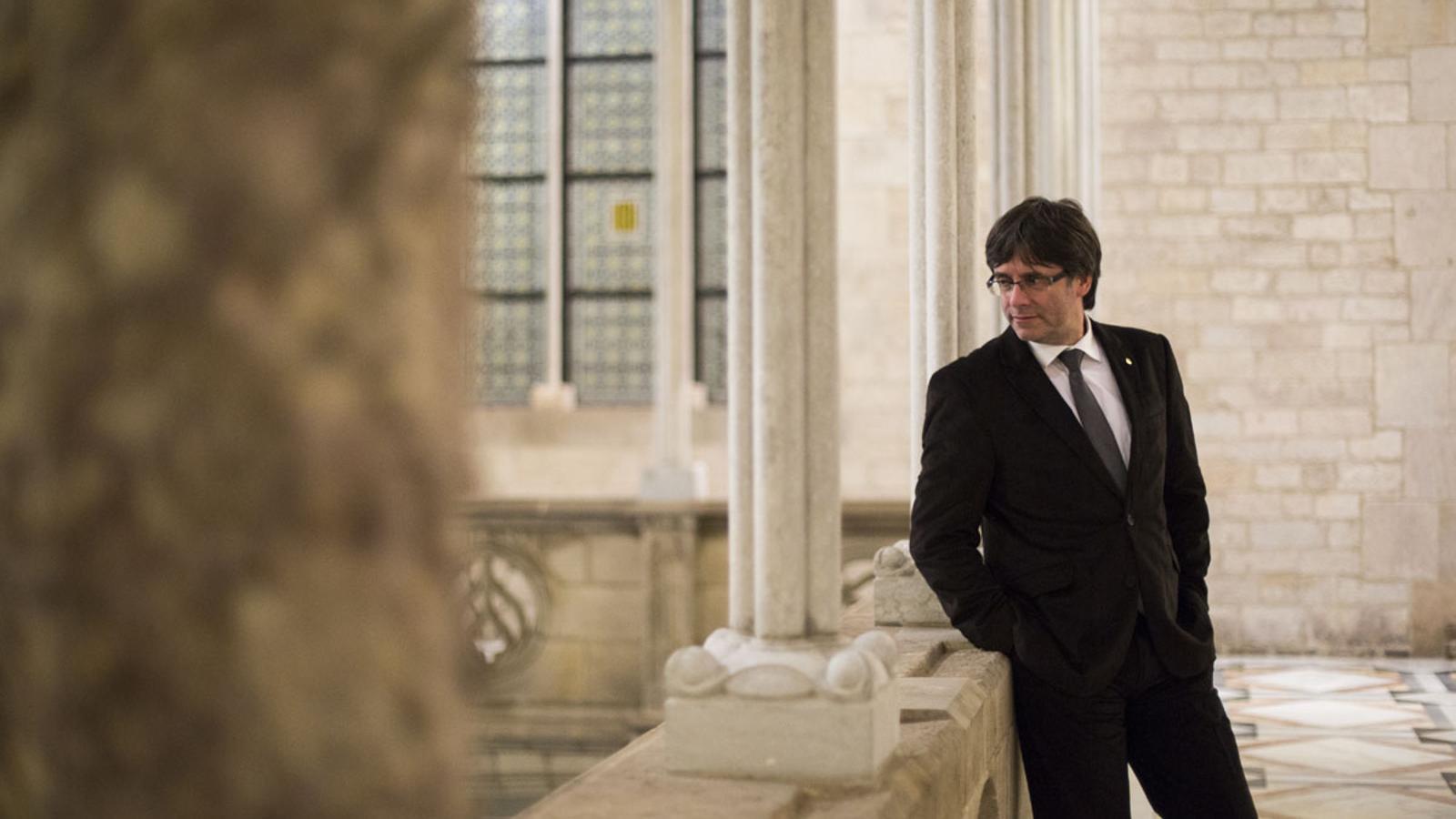 El president de la Generalitat, Carles Puigdemont. / FERRAN FORNÉ