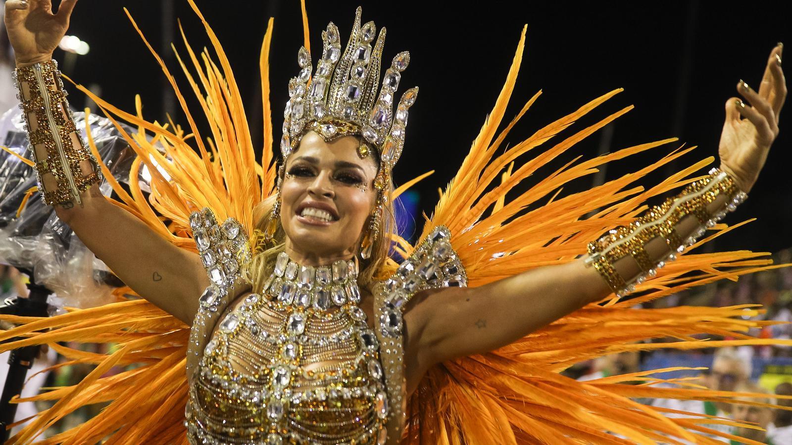 Una de les participants al carnaval de Rio de l'any passat