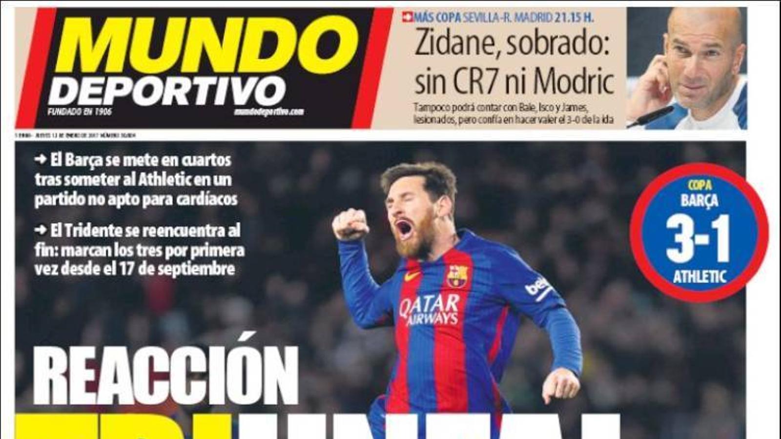 Portada 12 gener Mundo Deportivo