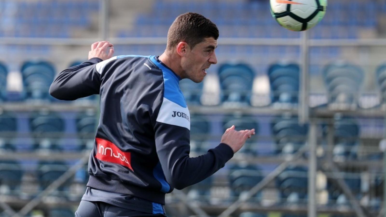 Jairo, durant un entrenament aquest curs amb l'Espanyol