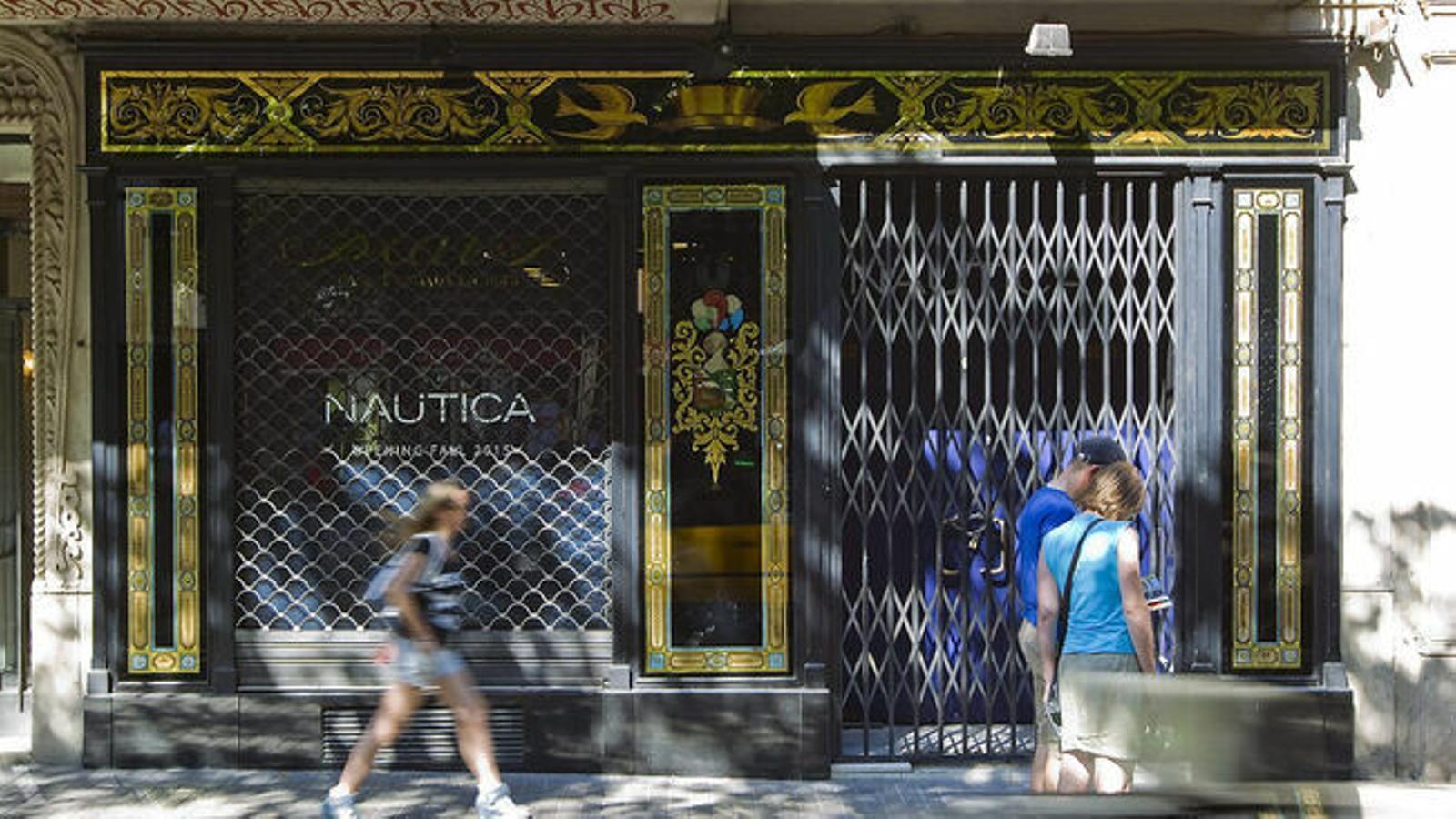 Un comerç de la Rambla de Catalunya