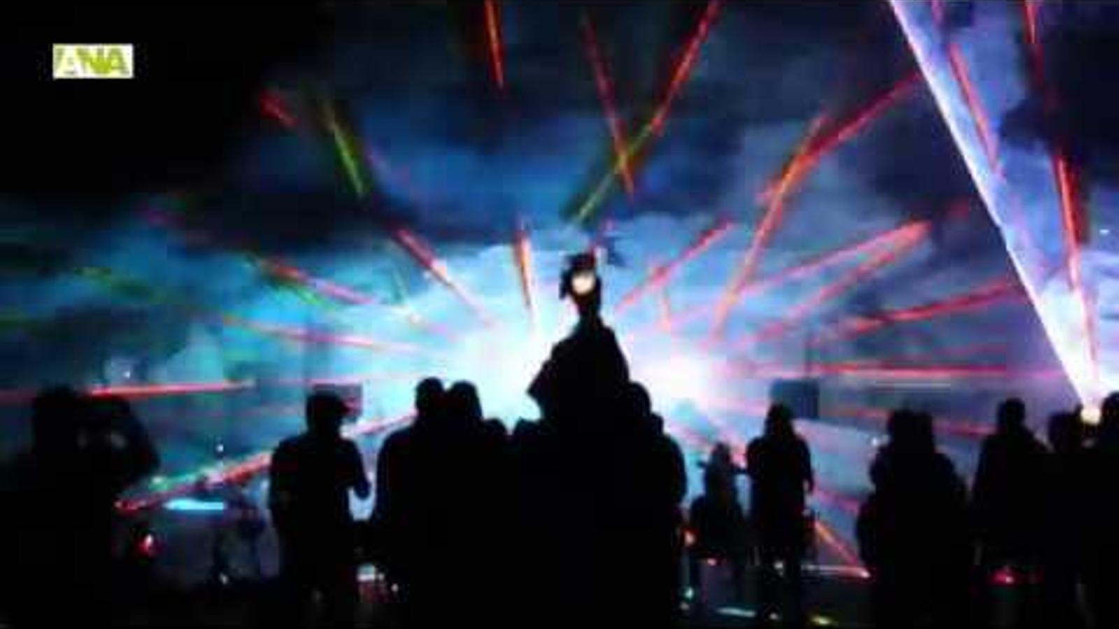 Imatges de l'espectacle 'Music' que ha clos el cicle Encamp en clau de llum