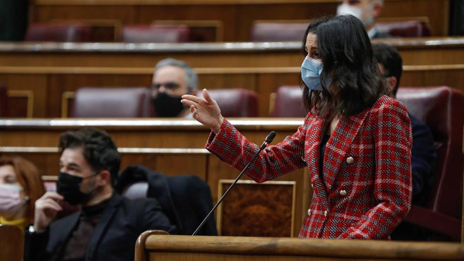 La presidenta de Cs, Inés Arrimadas, a l'hemicicle del Congrés