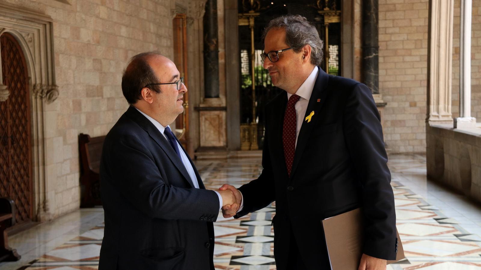 El primer secretari del PSC, Miquel Iceta, el junt passat amb el president de la Generalitat, Quim Torra