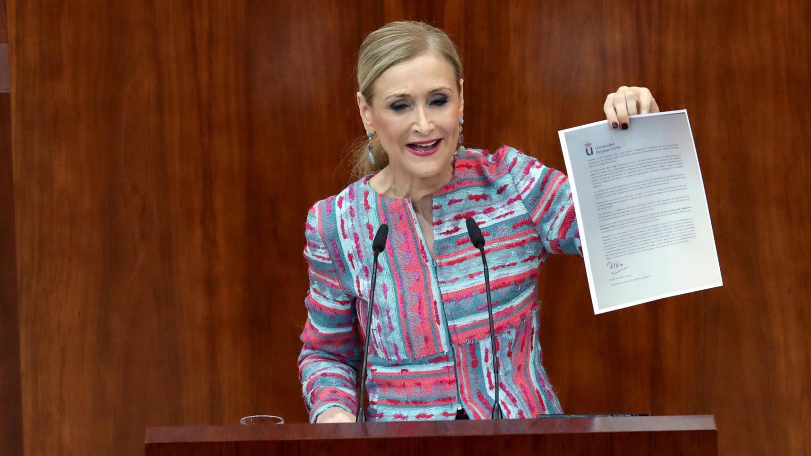 Compareixença de Cristina Cifuentes a l'Assemblea de Madrid
