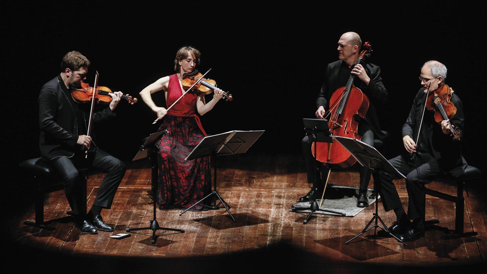 Abel Tomàs, Vera Martínez, Arnau Tomàs i Jonathan Brown a L'Auditori.