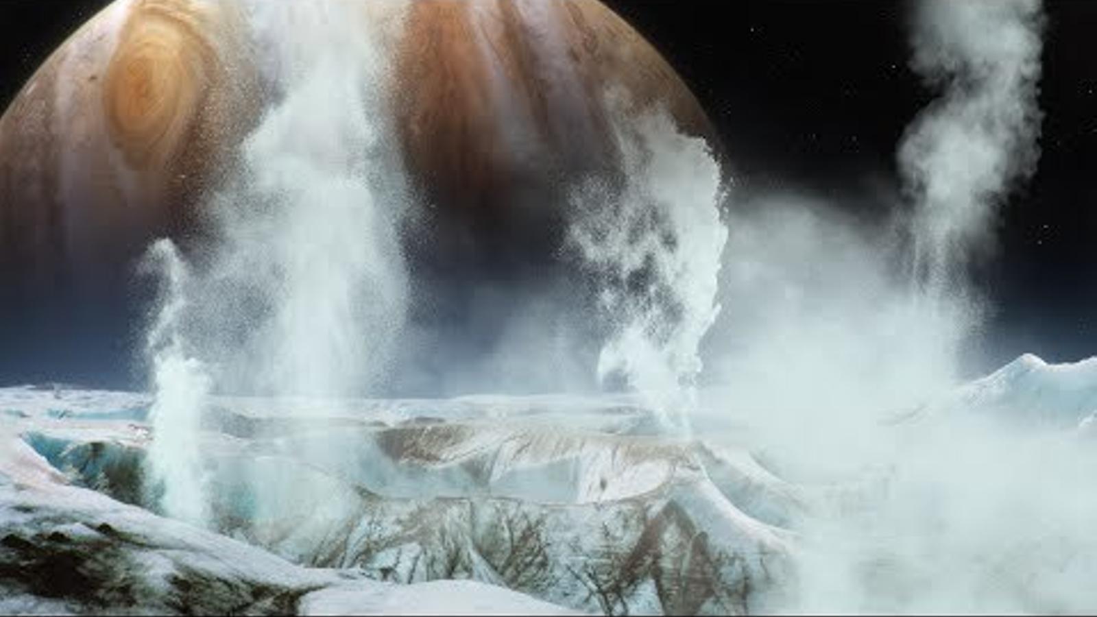La NASA observa erupcions d'aigua a una de les llunes de Júpiter