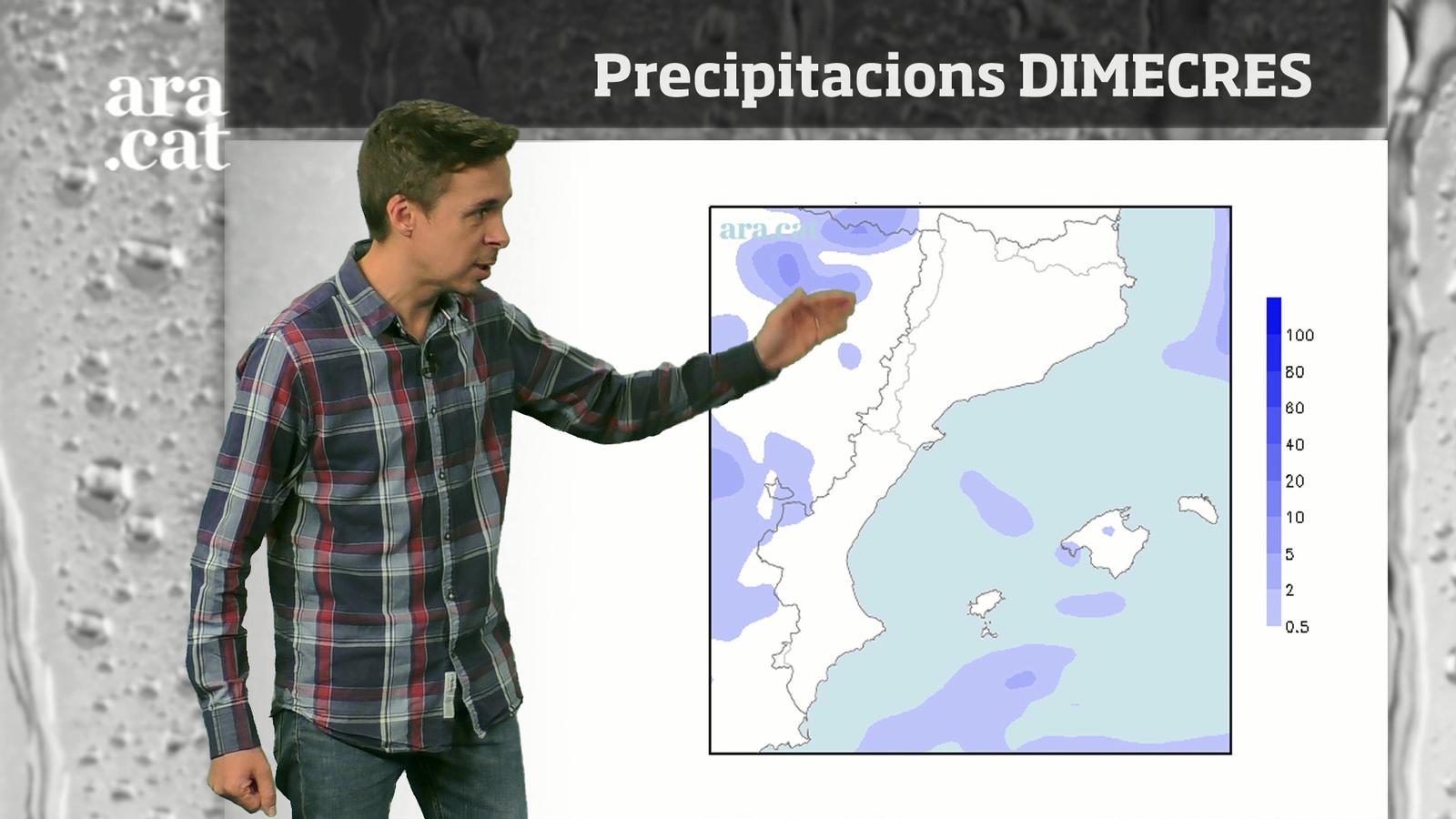 La méteo en 1 minut: s'acosten dos dies de treva pel que fa a la pluja