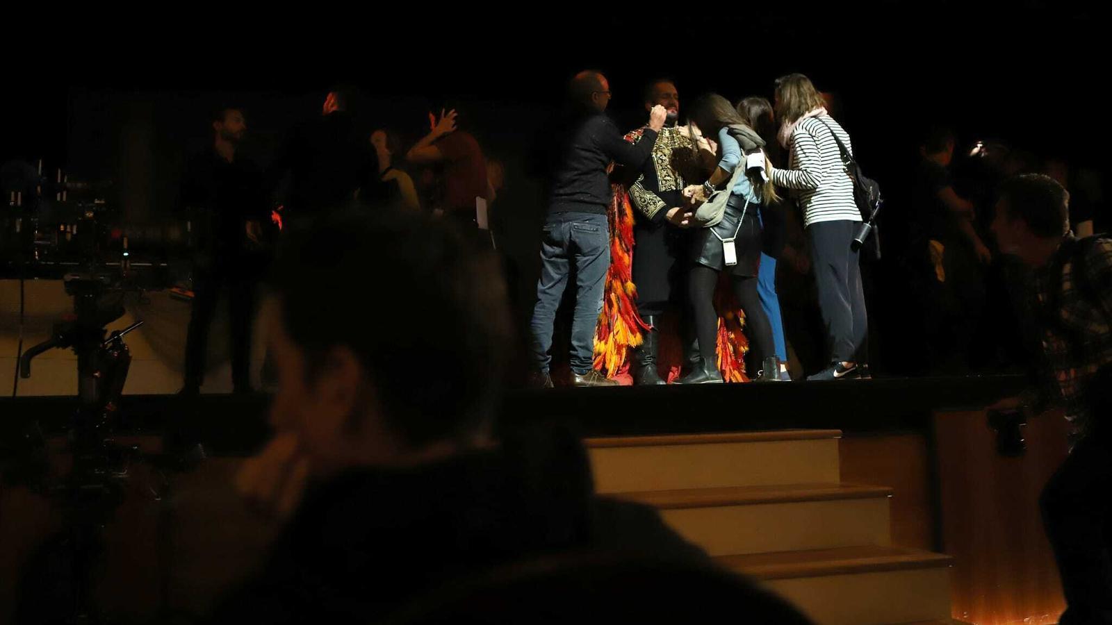 Imatge del rodatge de 'The Mallorca Files' al teatre Principal de Palma