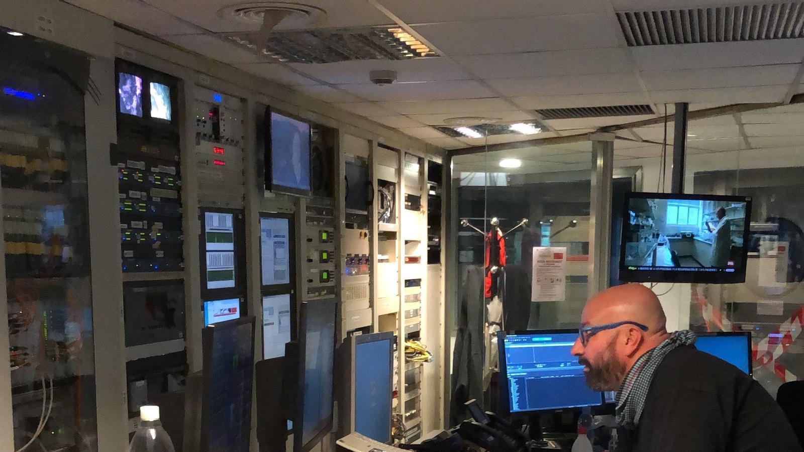 El control central de Catalunya Ràdio
