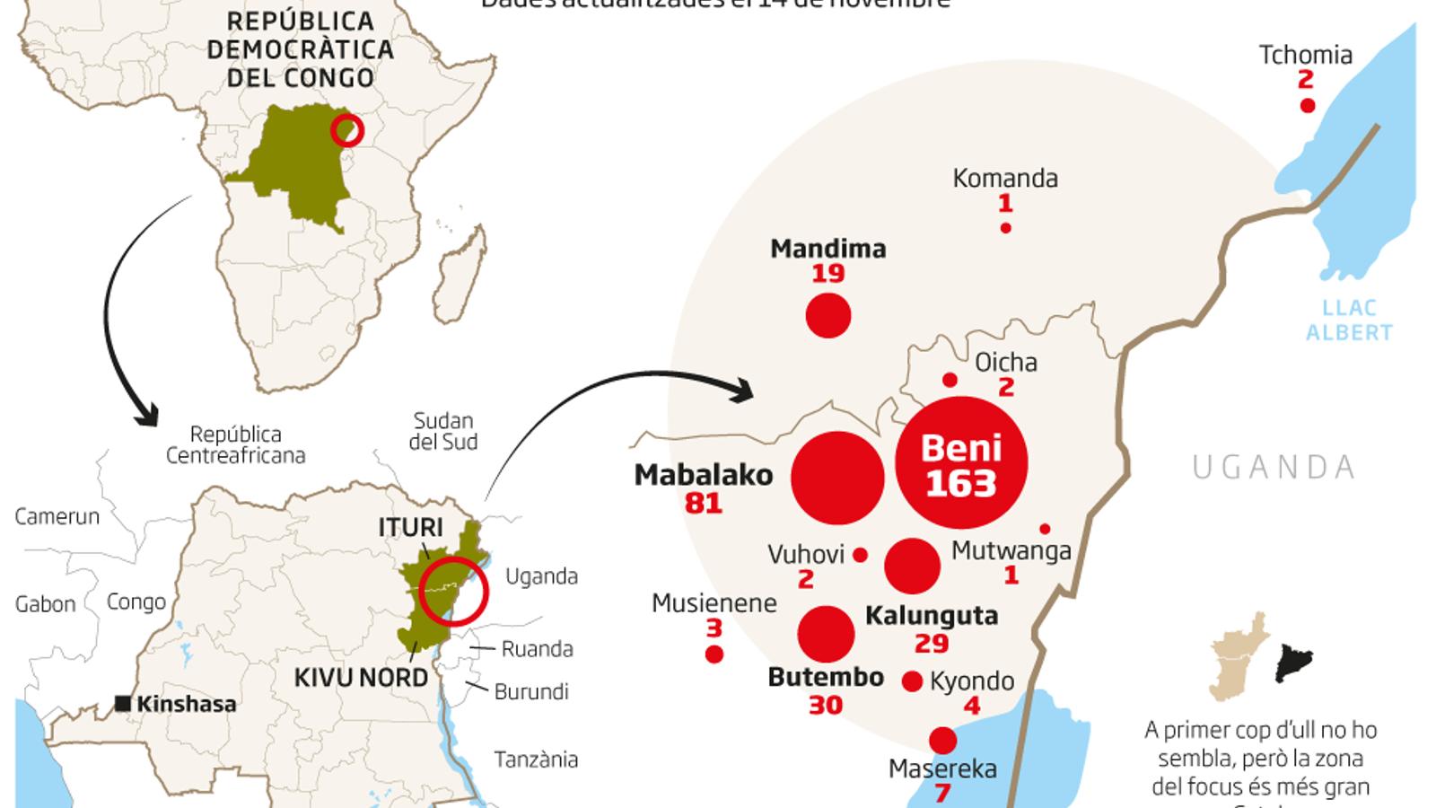 Un nou focus d'Ebola al centre de l'Àfrica