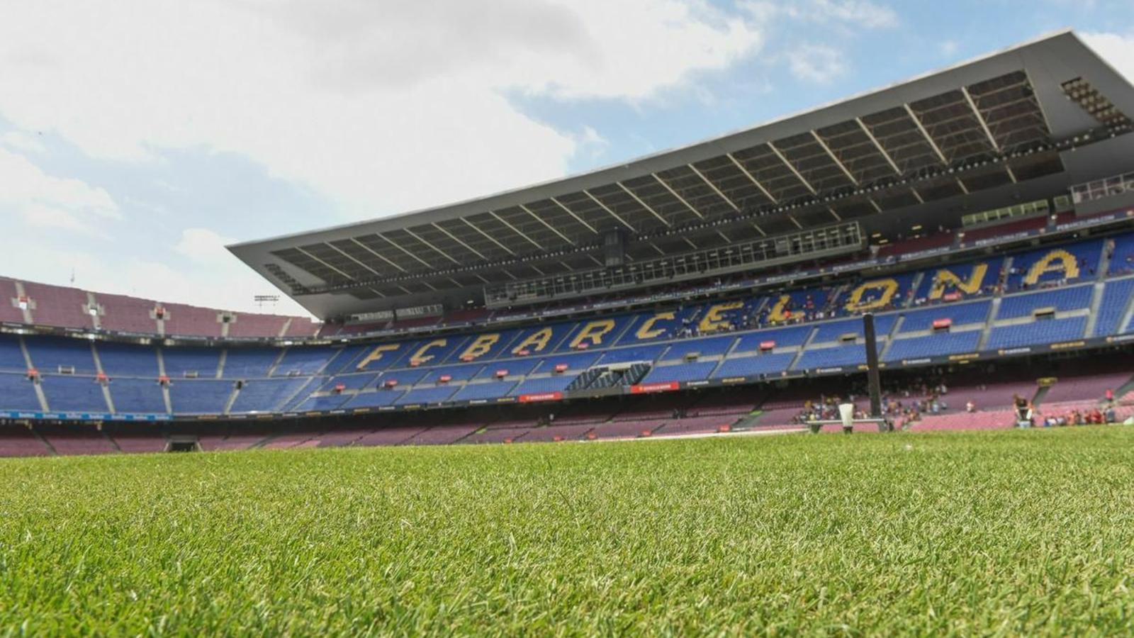 La gespa del Camp Nou sense el primer equip de futbol ni aficionats