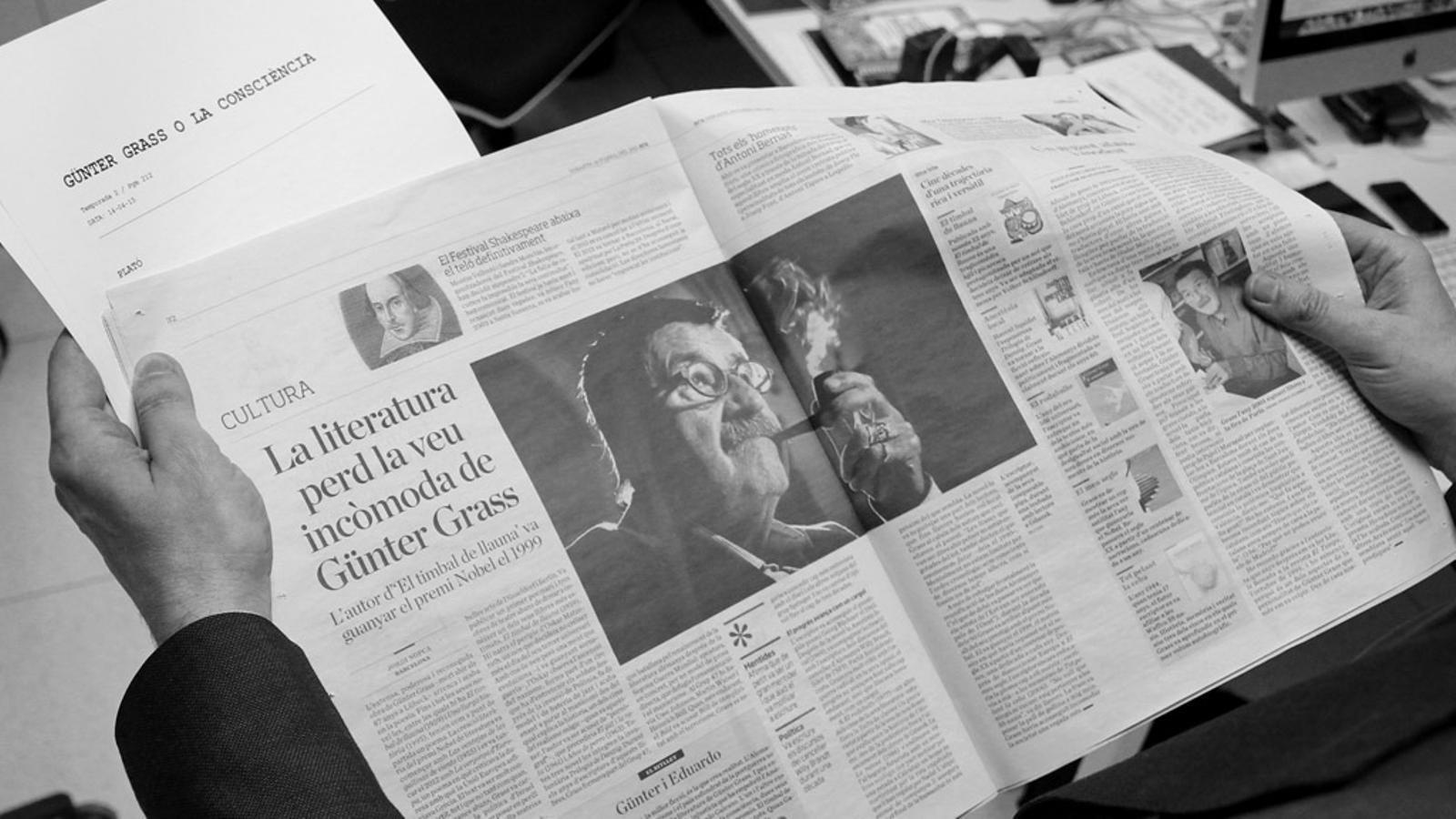 L'editorial d'Antoni Bassas: 'Günter Grass o la consciència' (14/04/2015)