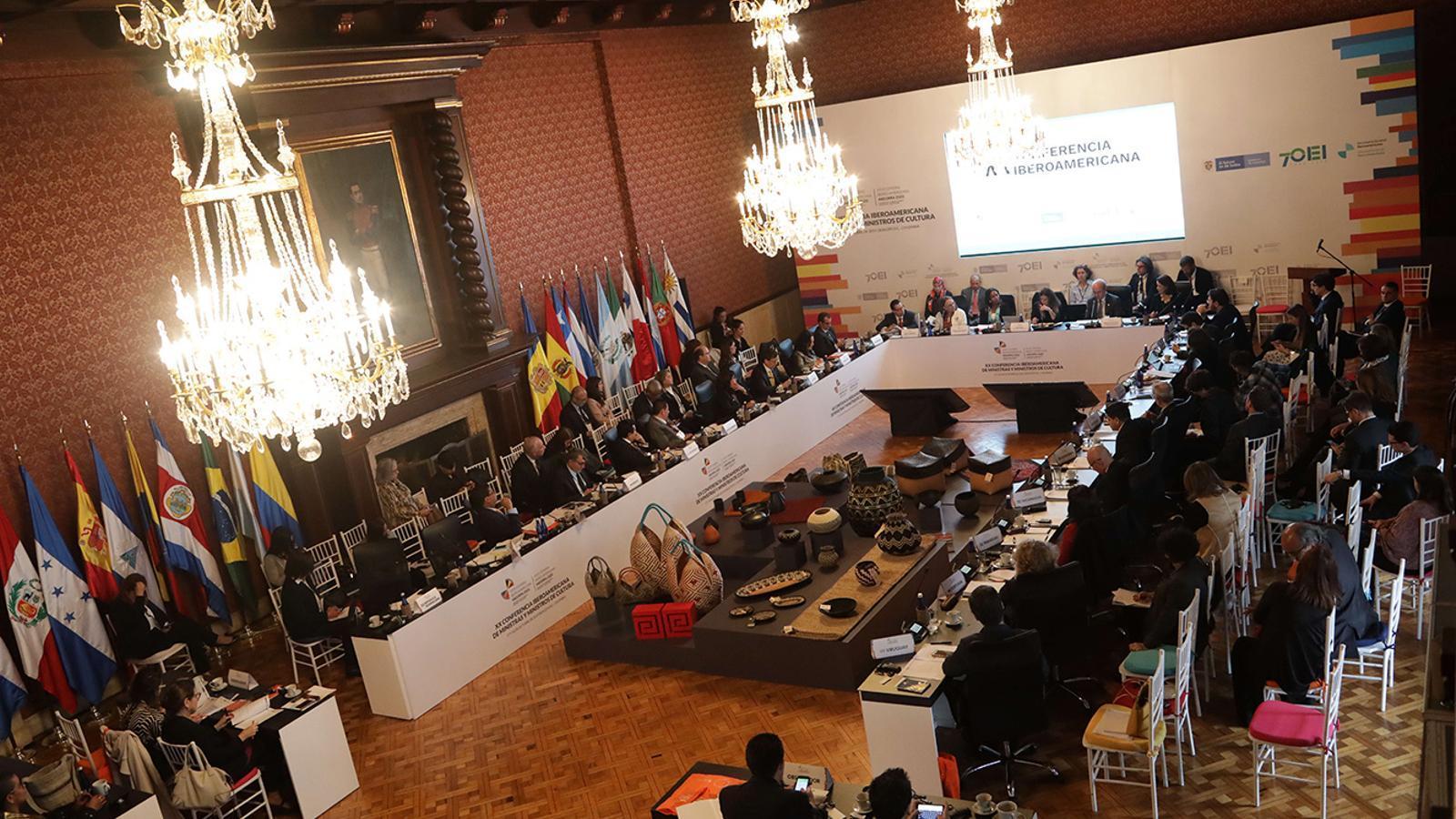 Un moment de la conferència iberoamericana de ministres de cultura. / SFG