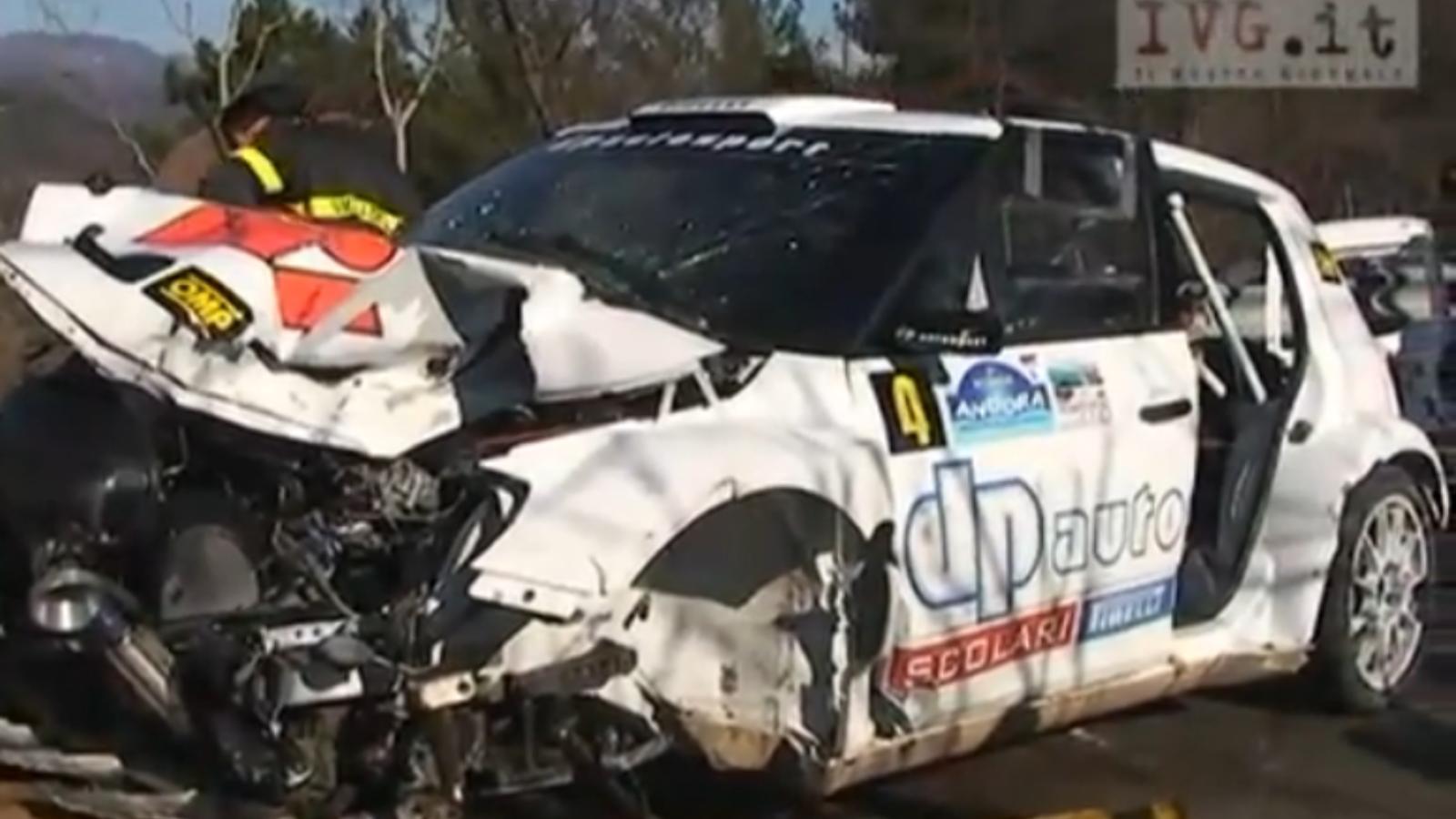El cotxe de Kubica, després de l'accident a Itàlia