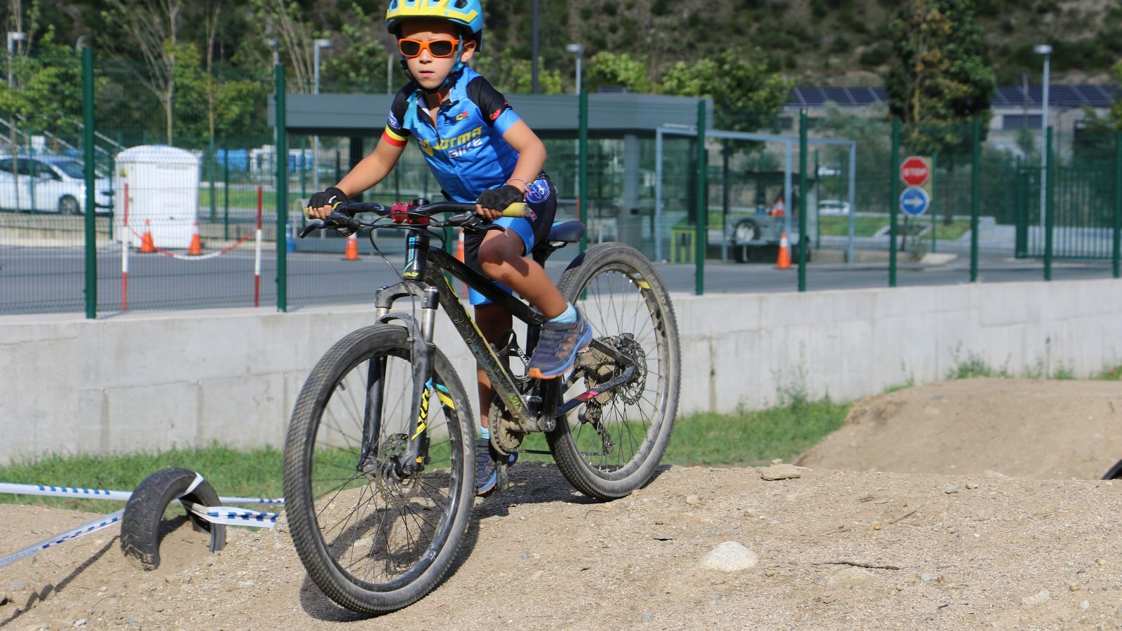 El nou circuit de BTT i ciclocròs d'Andorra la Vella. / E.C. (ANA)