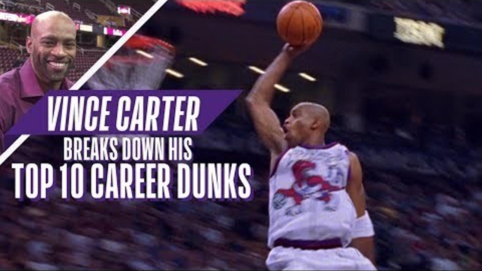 Vice Carter, jugador de la NBA, en acció