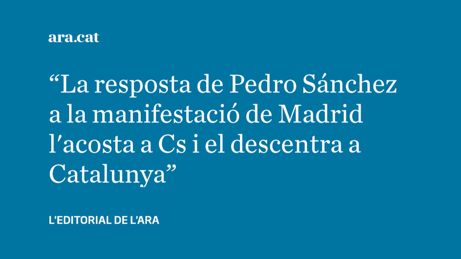 El PSOE s'allunya de nou de la moderació respecte a Catalunya