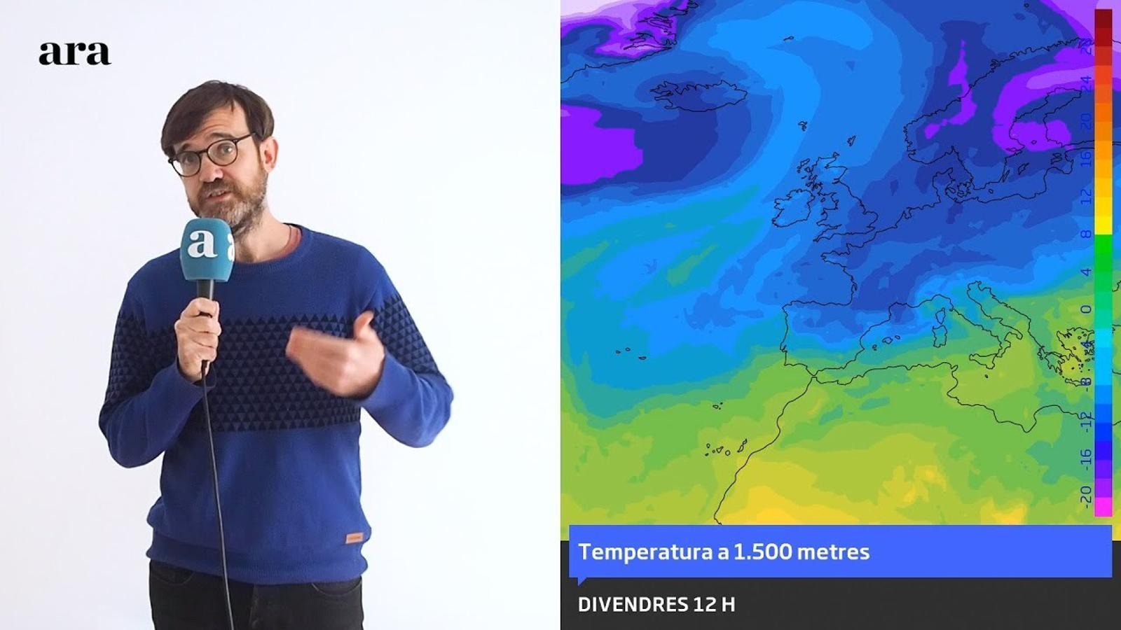 La méteo: fred intens i algunes nevades en la primera part de les festes