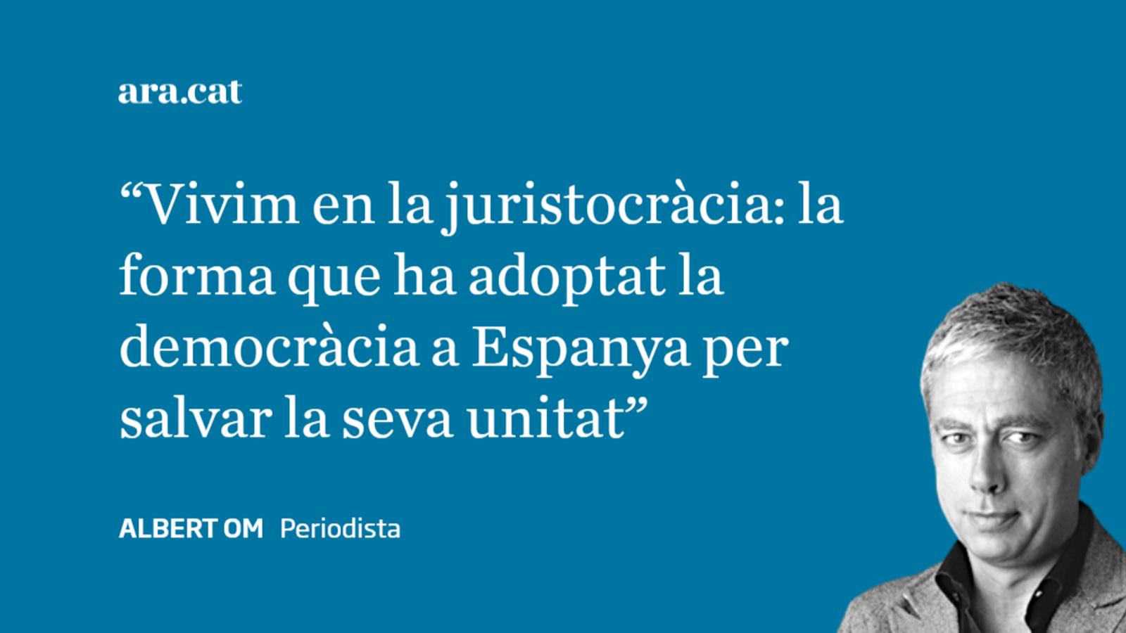 Carta a Javier Zaragoza: 'Visca la juristocràcia!'