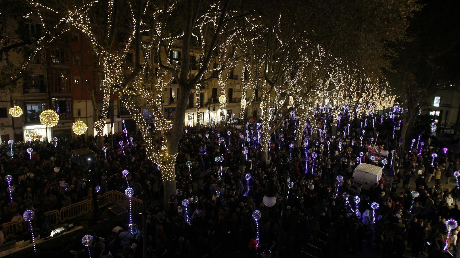 Encesa dels llums de Nadal de Palma 2018