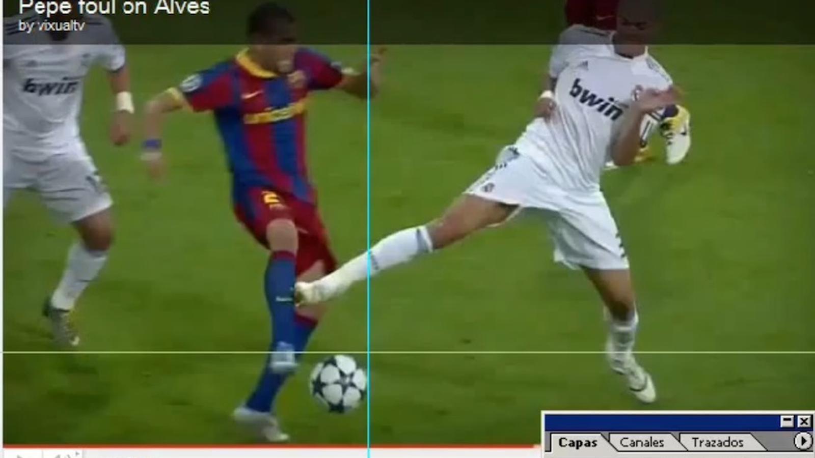 Vídeo sobre la suposada manipulació de les imatges de l'entrada de Pepe a Alves