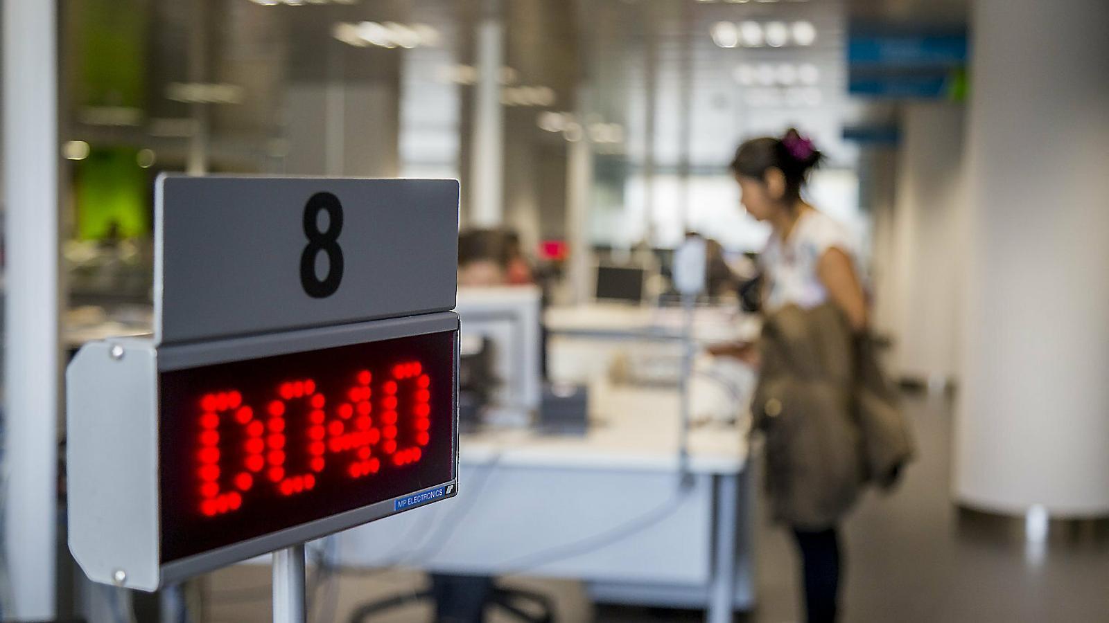 Imatge d'una oficina de treball a Cornellà de Llobregat.