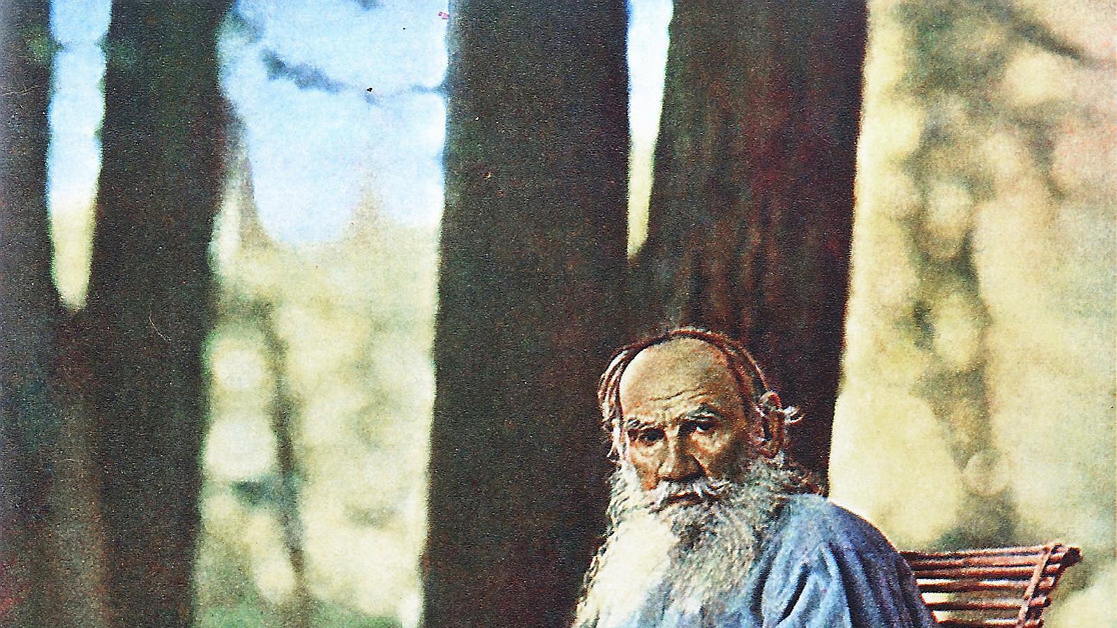 Fotografia de Lev Tolstoi feta el 1908 pel fotògraf i químic Serguei Prokudin-Gorski, pioner en la utilització de la fotografia en color.