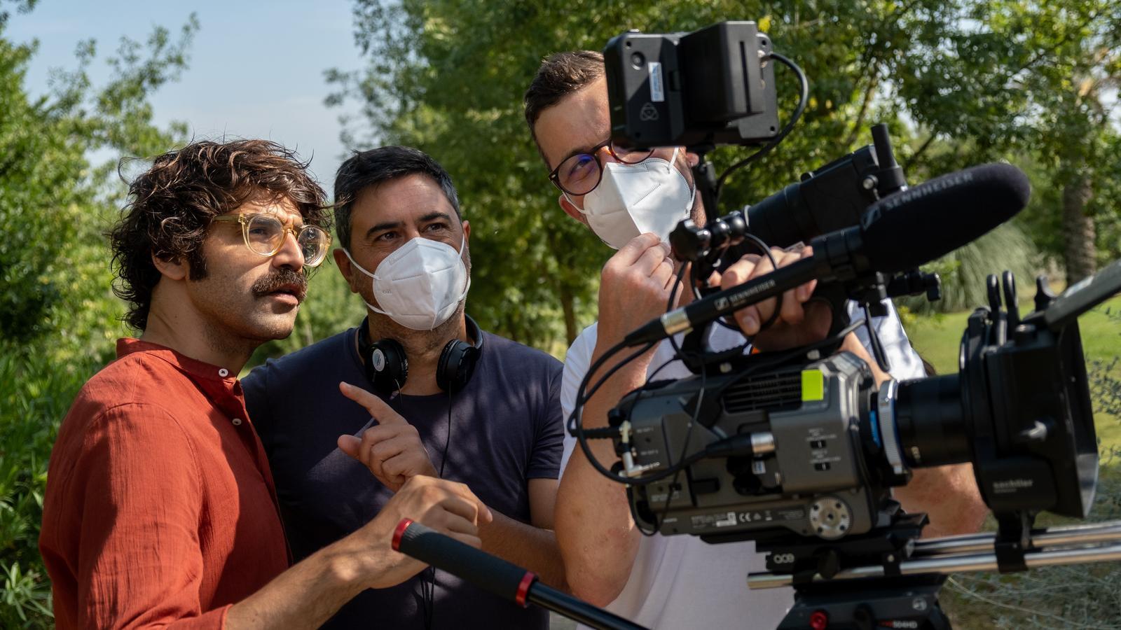 David Verdaguer durant el rodatge de la segona temporada de 'Tabús'