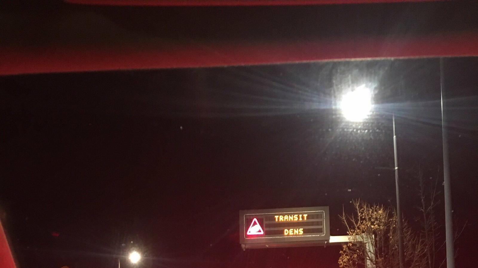 Retencions a la xarxa viària arran de l'accident. / @SFGANDORRA