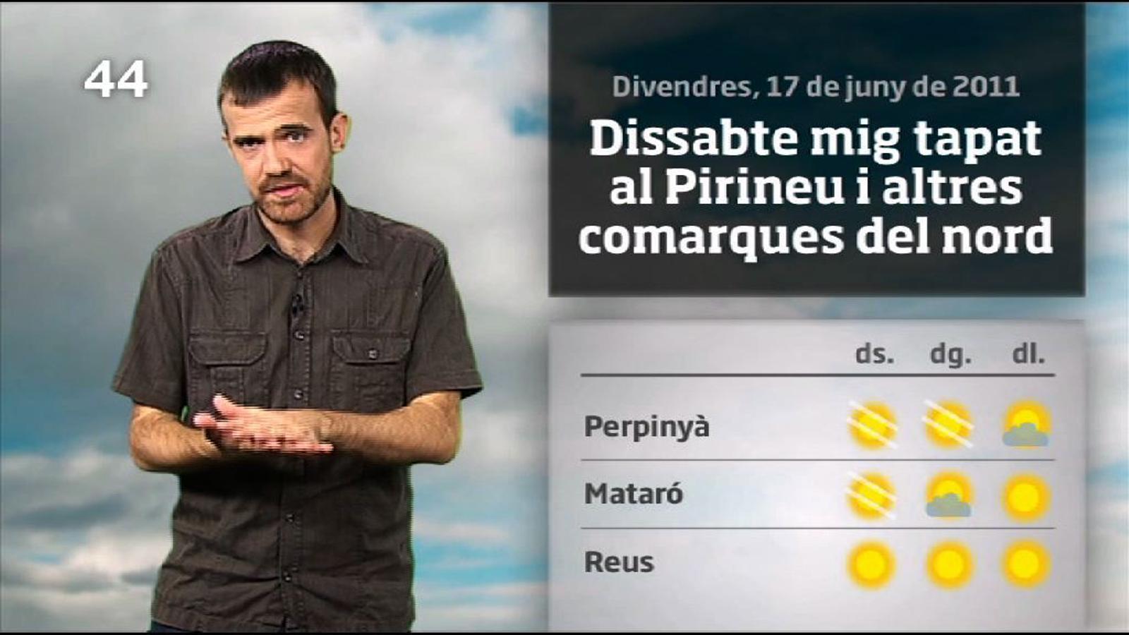 La méteo en 1 minut: més sol que núvols i menys calor (17/06/2011)
