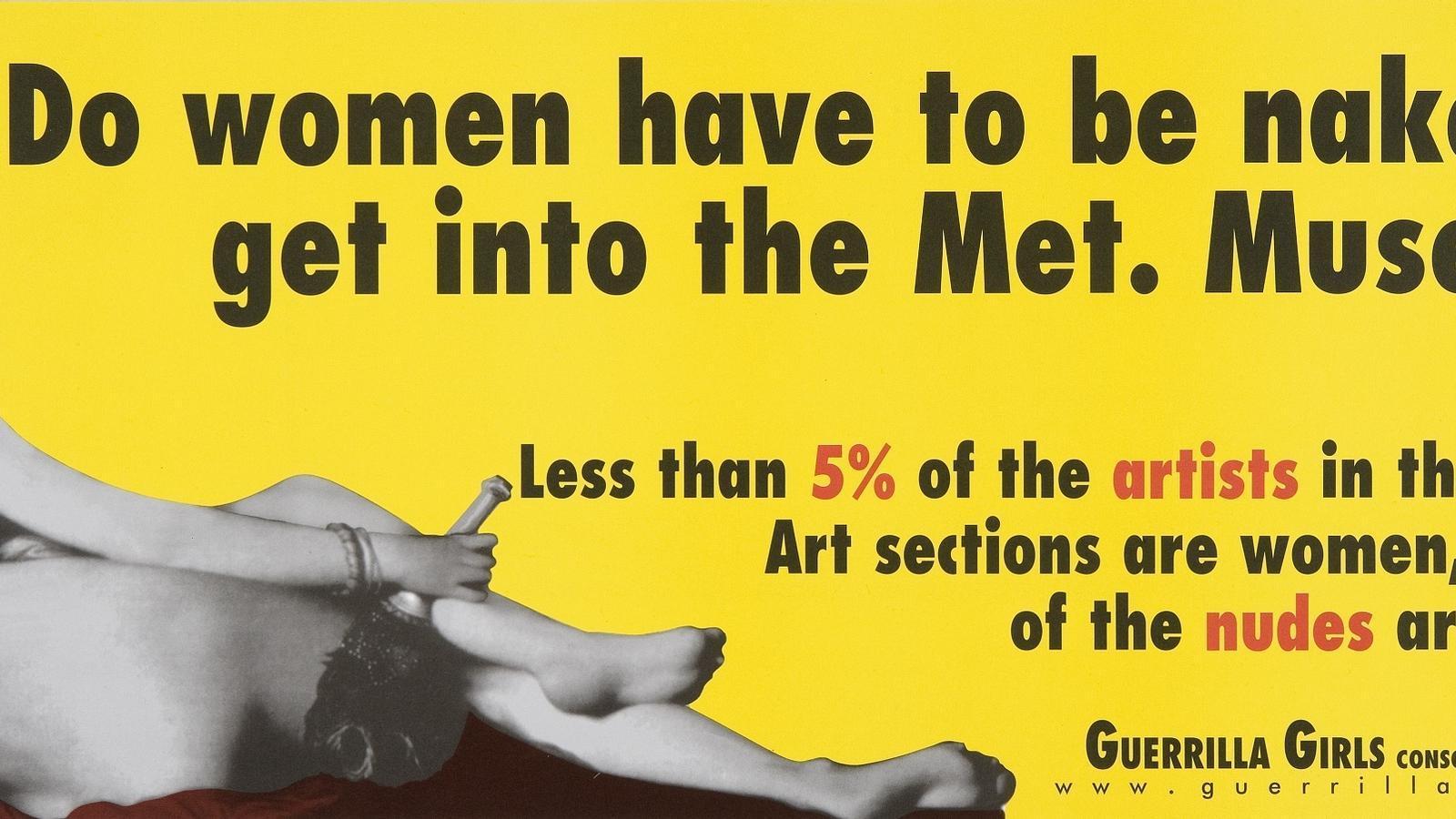'Les dones han d'anar despullades per entrar al Metropolitan Museum?', de Guerilla Girls