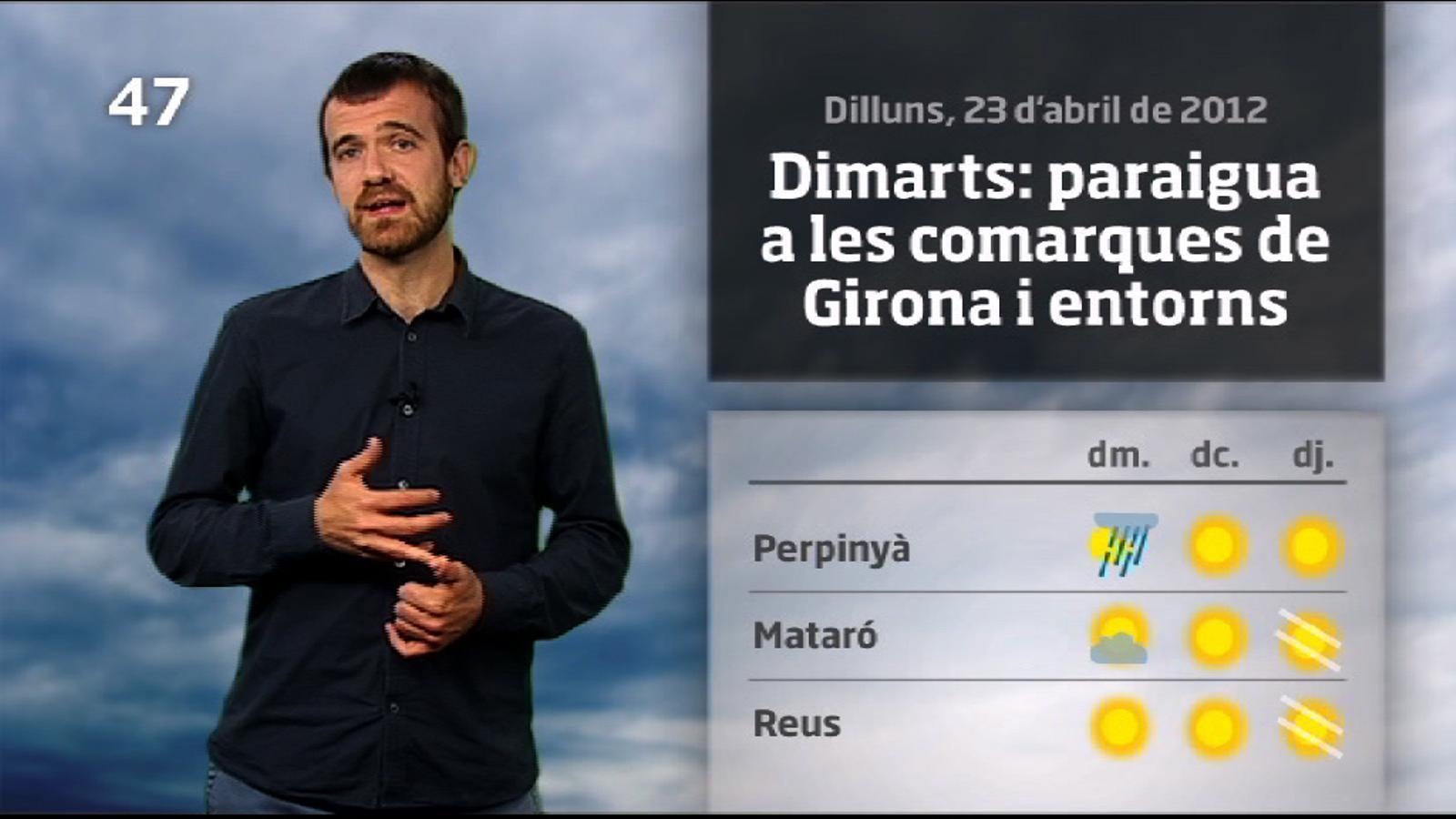 La méteo en 1 minut: primera calorada de l'any a la vista (24/04/2012)