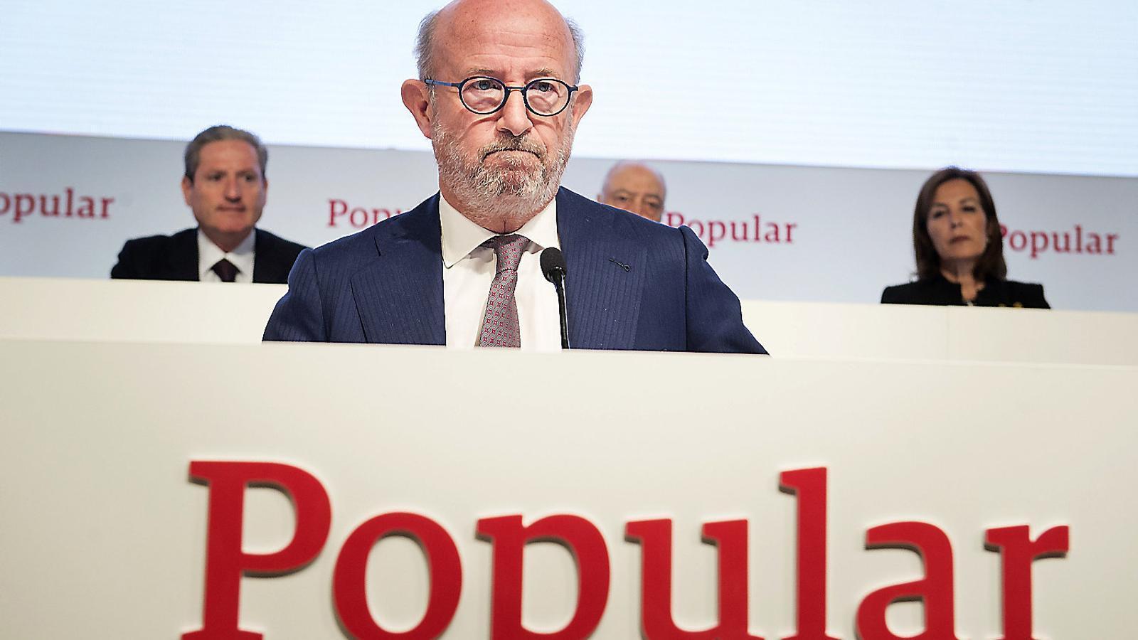 El president del Banco Popular, Emilio Saracho, haurà de decidir a qui ven el banc i en quines condicions.