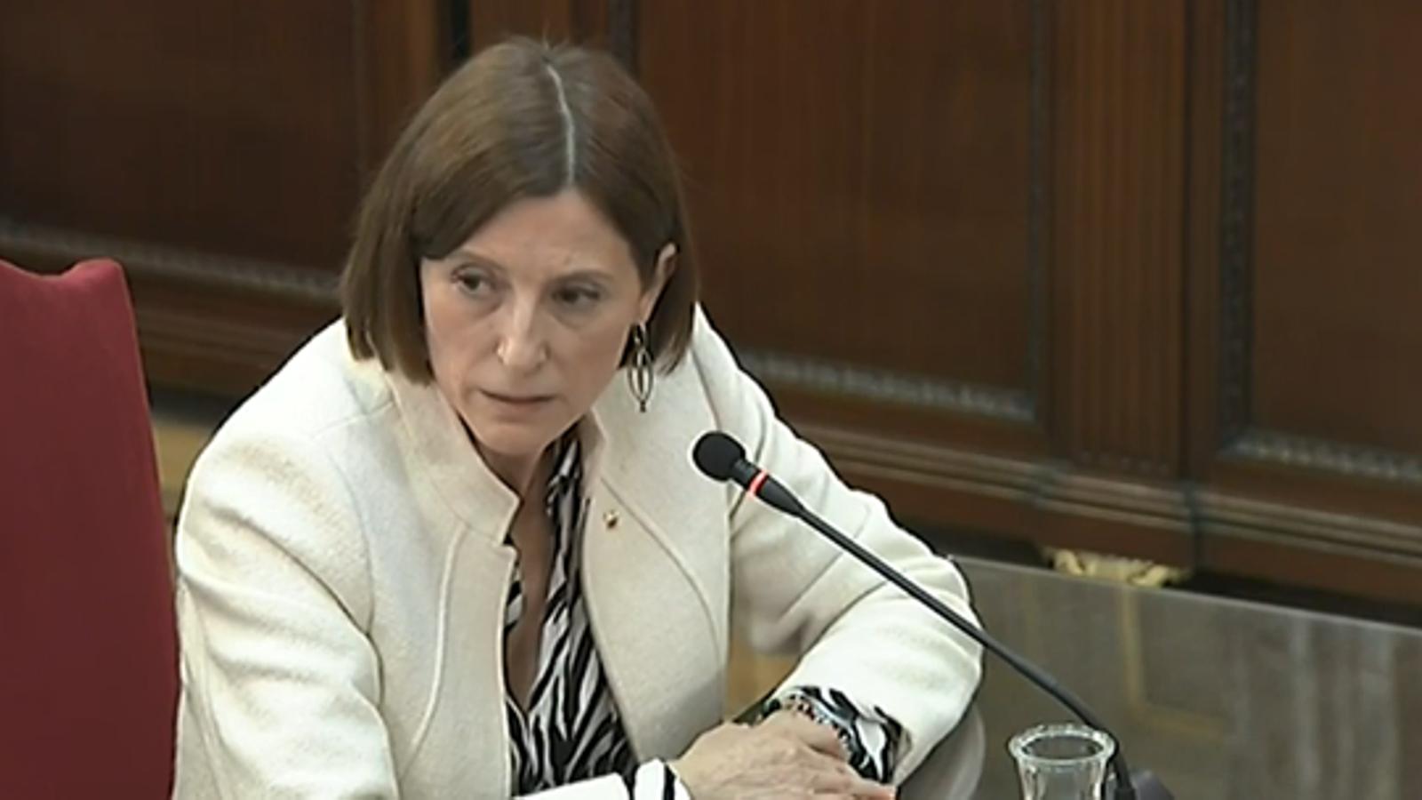 """""""Forcadell no va organitzar el referèndum i no va arengar mobilitzacions violentes"""": Olga Arderiu, en deu frases"""