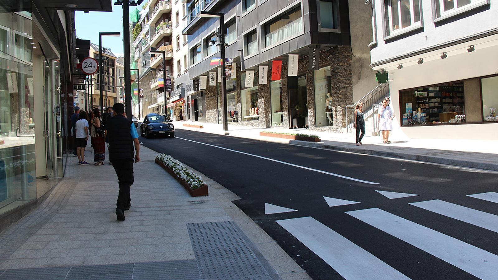 Un tram de l'avinguda Meritxell remodelada. / M. F. (ANA)