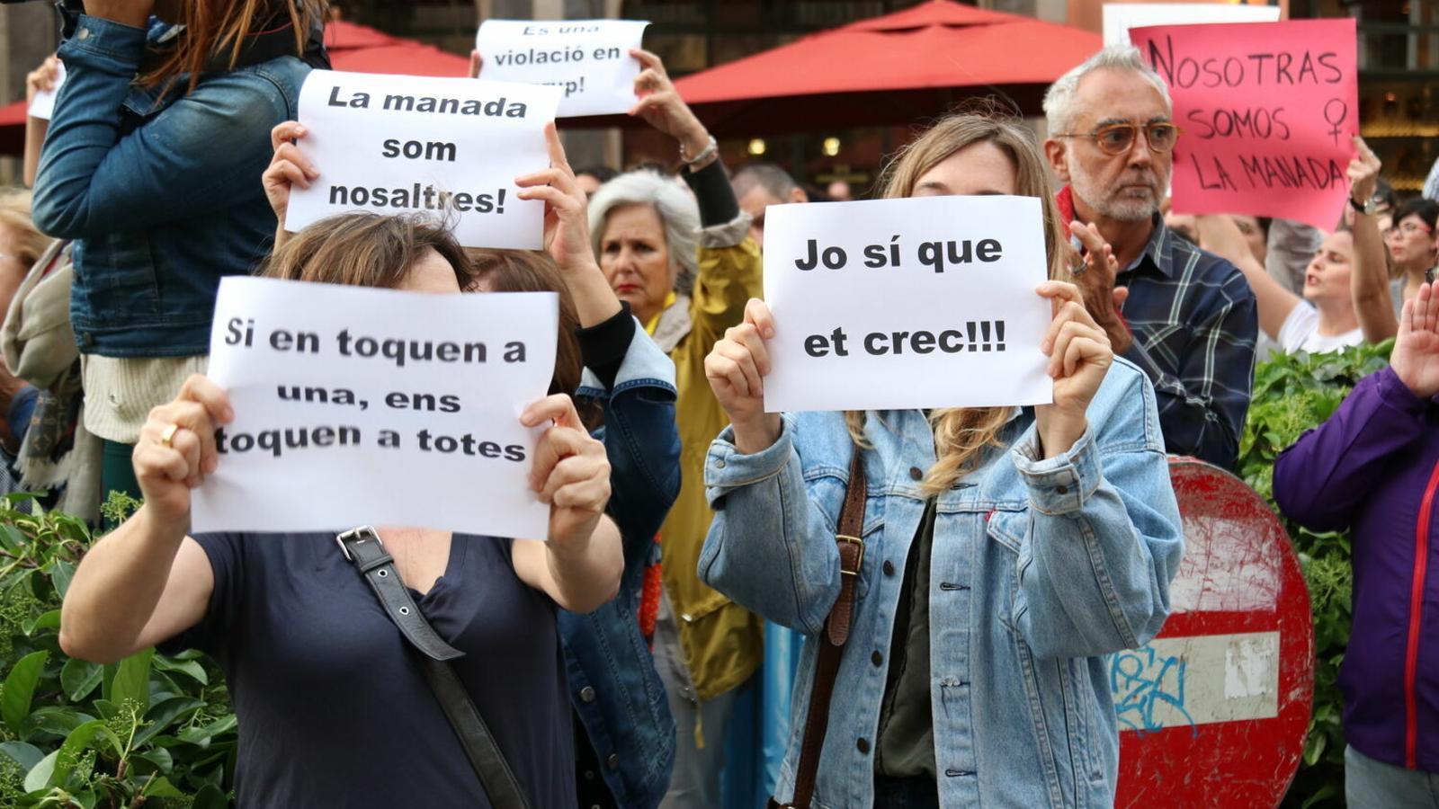 Imatge d'arxiu d'una protesta a Palma contra la sentència de la Manada.