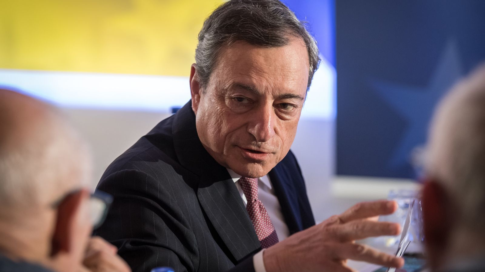 Fotografia de Mario Draghi, en una trobada recent.