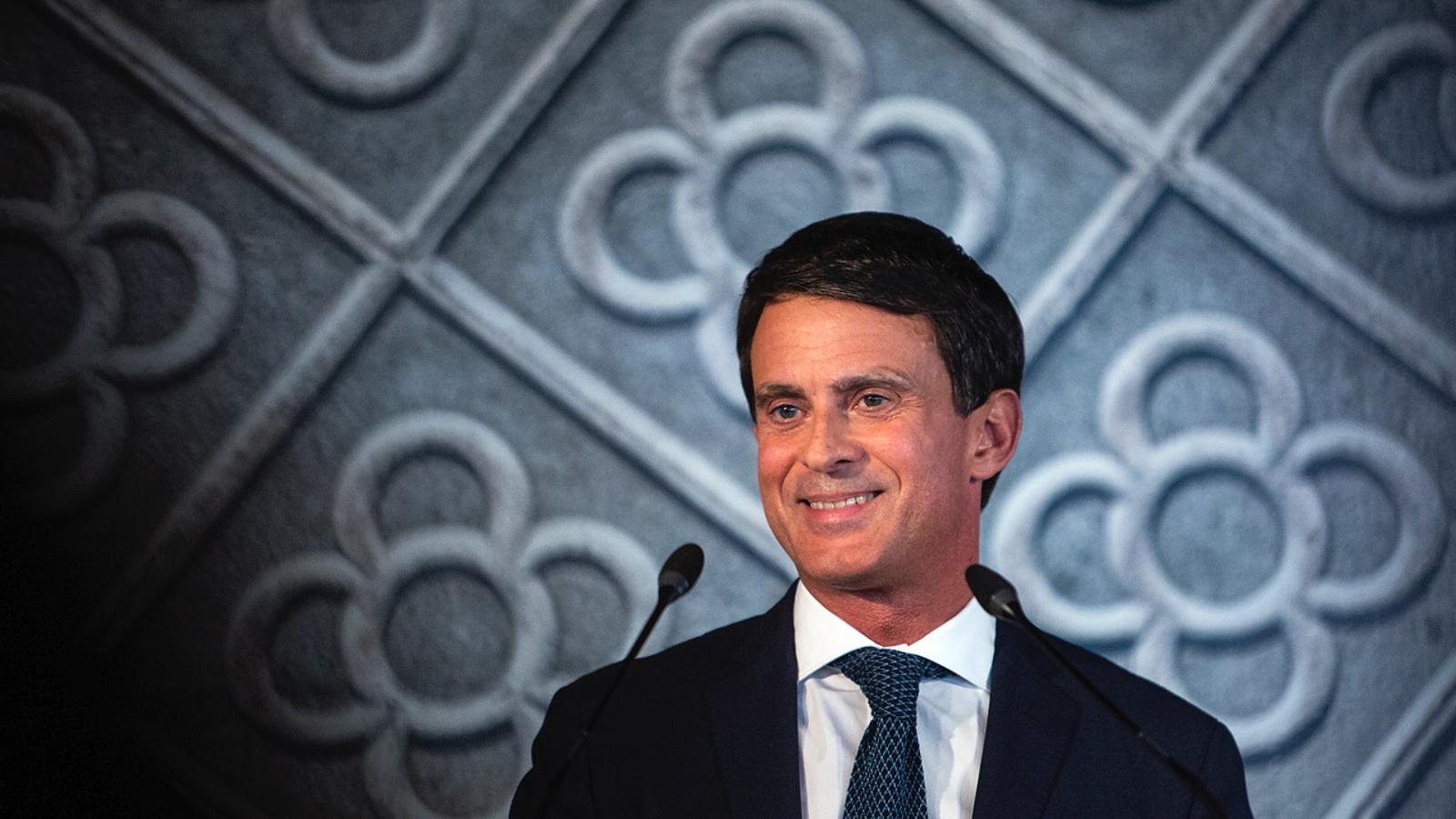 Manuel Valls, a l'acte en què s'ha presentat com a candidat a l'alcaldia de Barcelona al CCCB