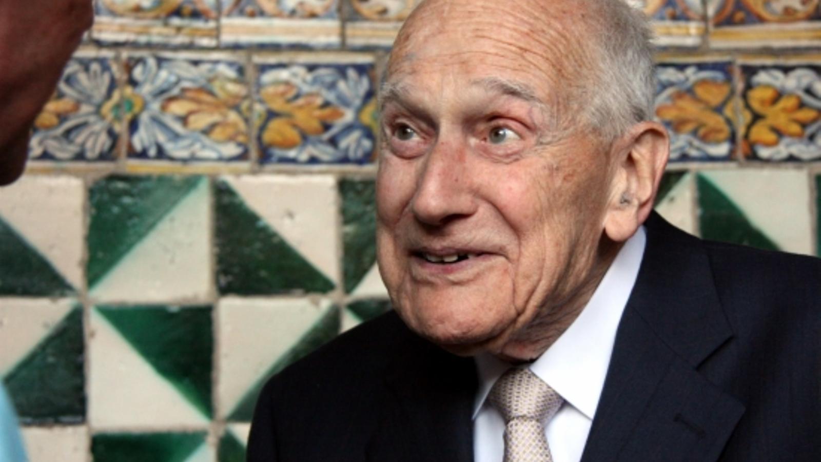 El filòleg i lingüista Antoni M. Badia i Margarit, en l'homenatge que va rebre l'any 2011 / ACN