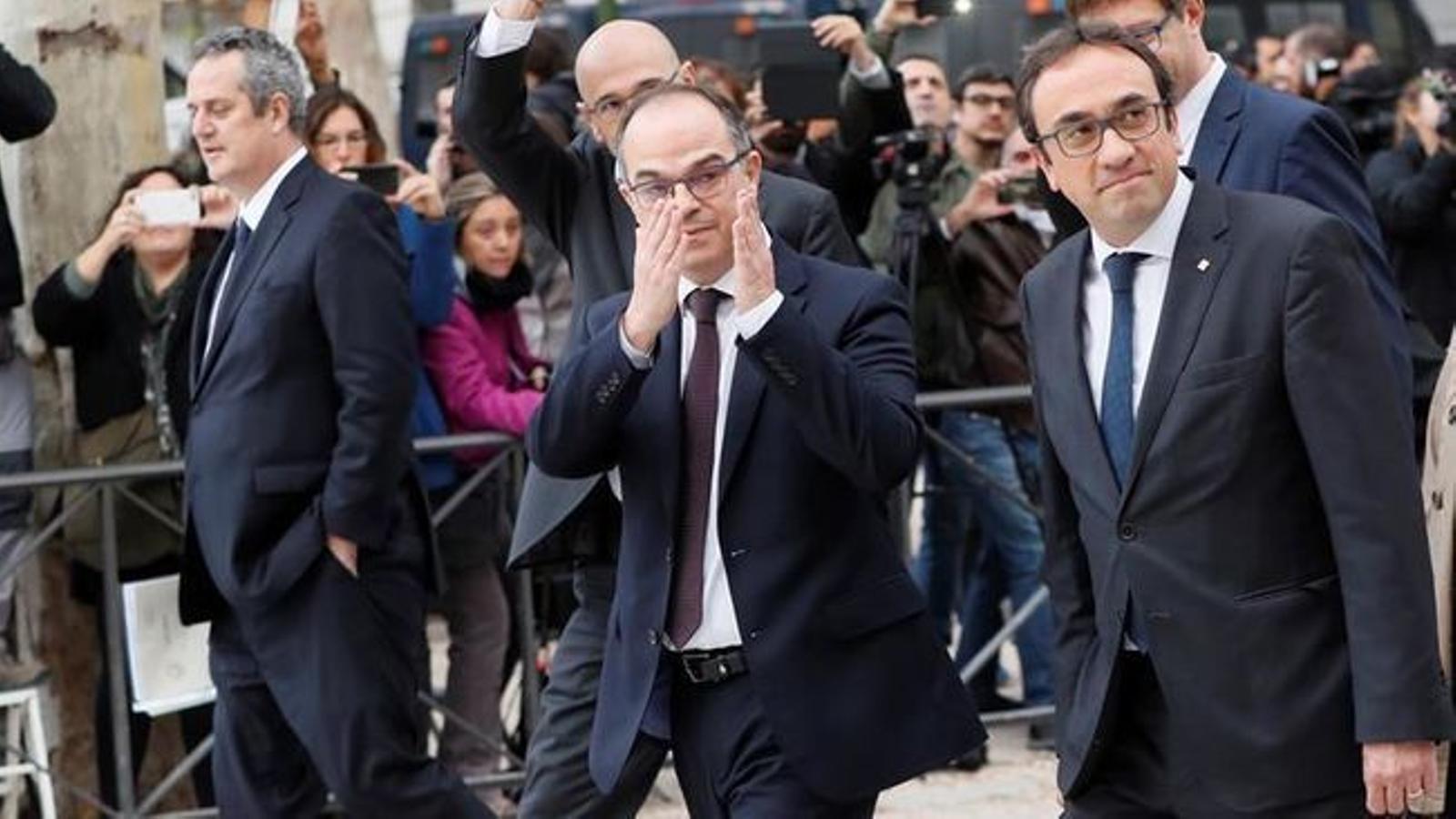 Els exconsellers Quim Forn i Josep Rull se sumen a la vaga de fam