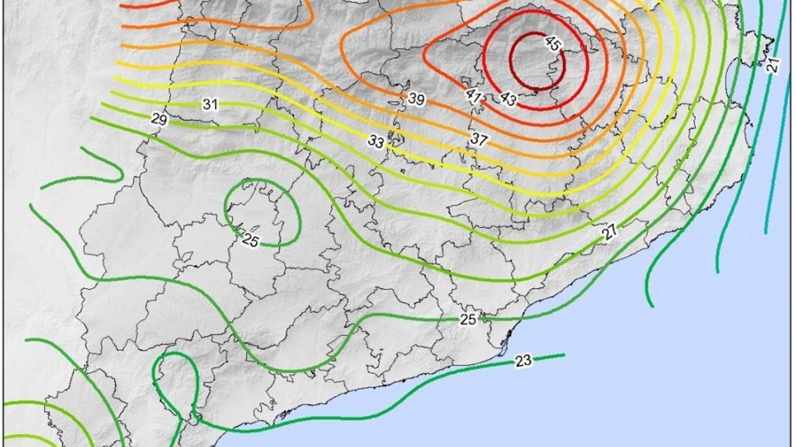 El Pirineu i el Prepirineu, les zones amb més dies de tempesta
