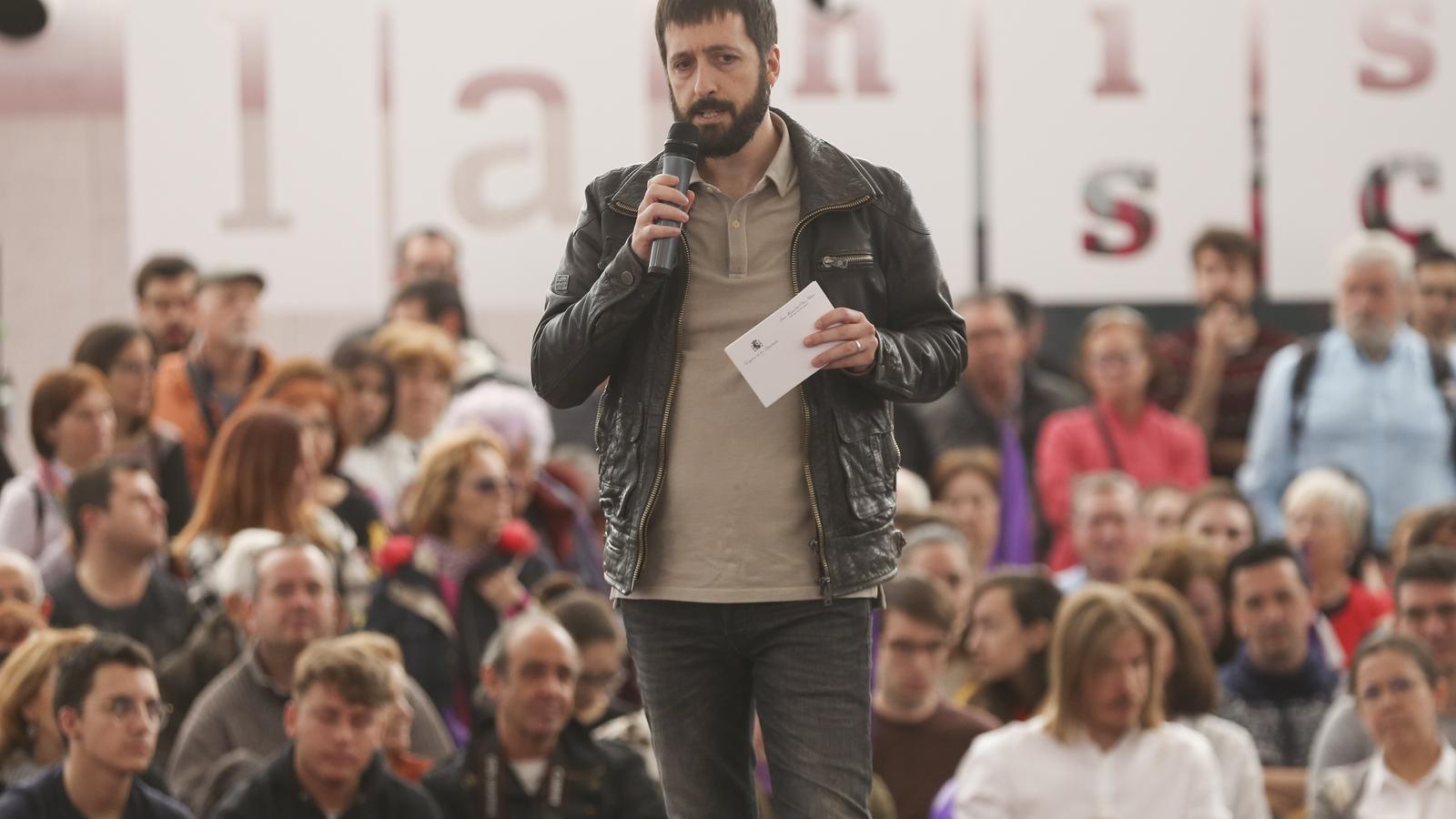 El secretari de comunicació de Podem, Juan Manuel del Olmo, en una imatge d'arxiu
